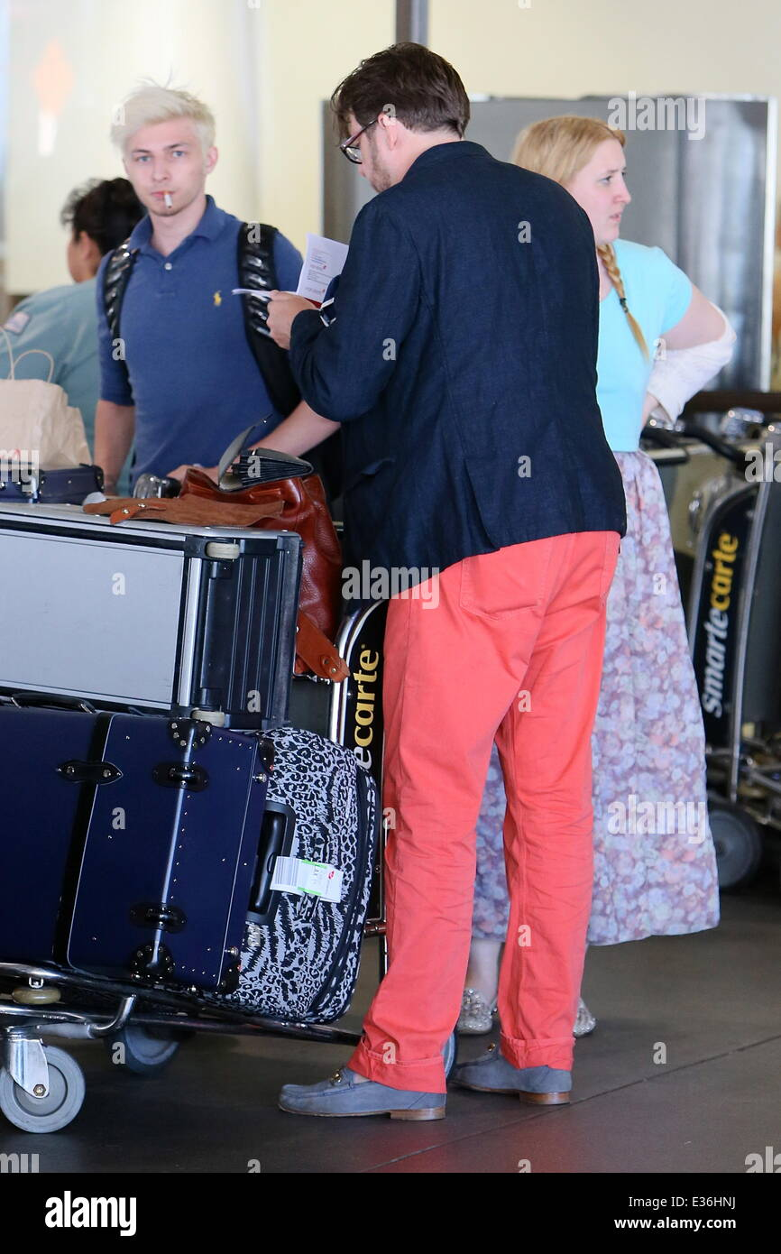 Jonathan Ross and family arriving at LAX Airport Featuring ...