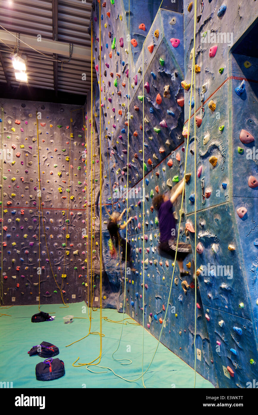 Climbing Wall In The University Of Leeds Swimming Pool And Gym Stock Photo Royalty Free Image