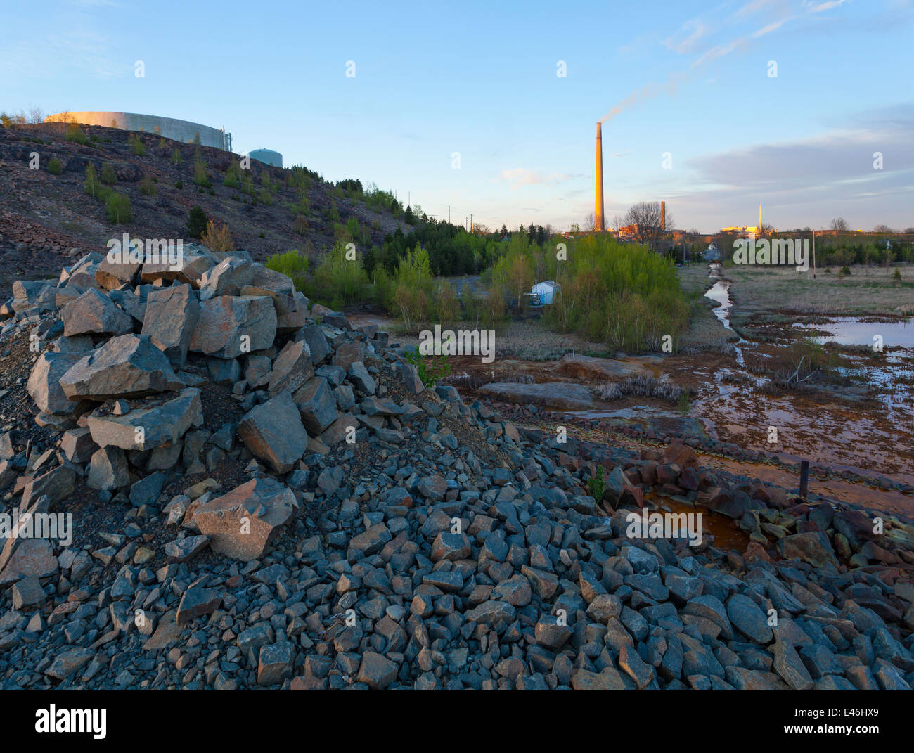 Water From A Nearby Tailings Pond Leaks Into The Local Water Supply Stock Photo Royalty Free