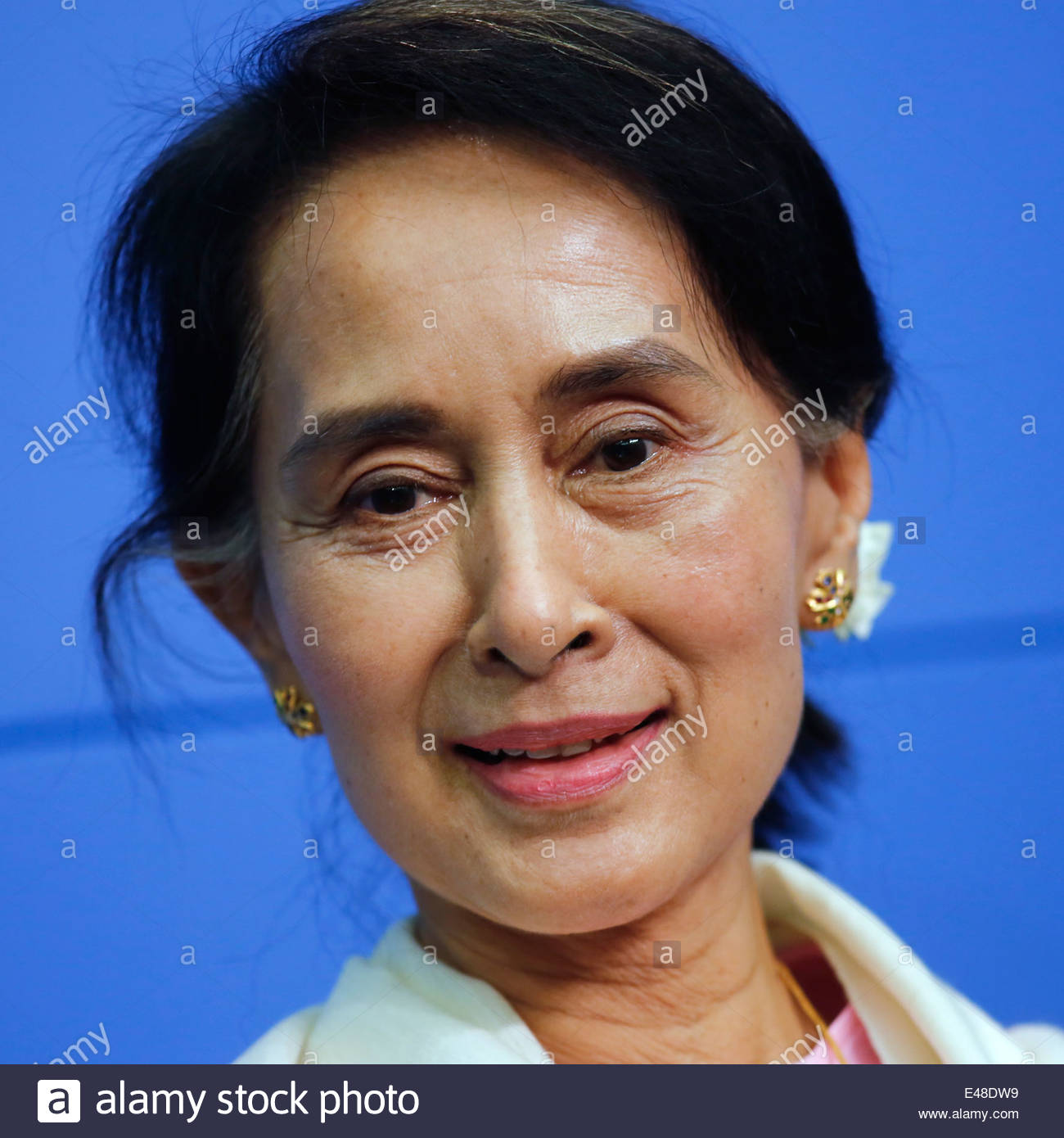 Berlin, Germany, Aung San Suu Kyi, chairperson of the NLD Stock Foto