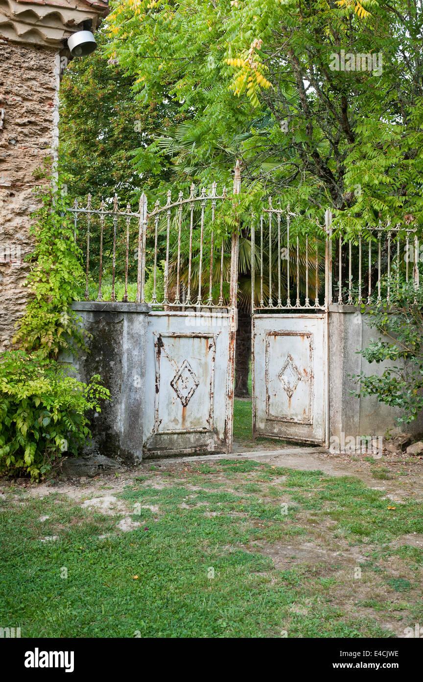 Rusty old iron gates stock photo royalty free image