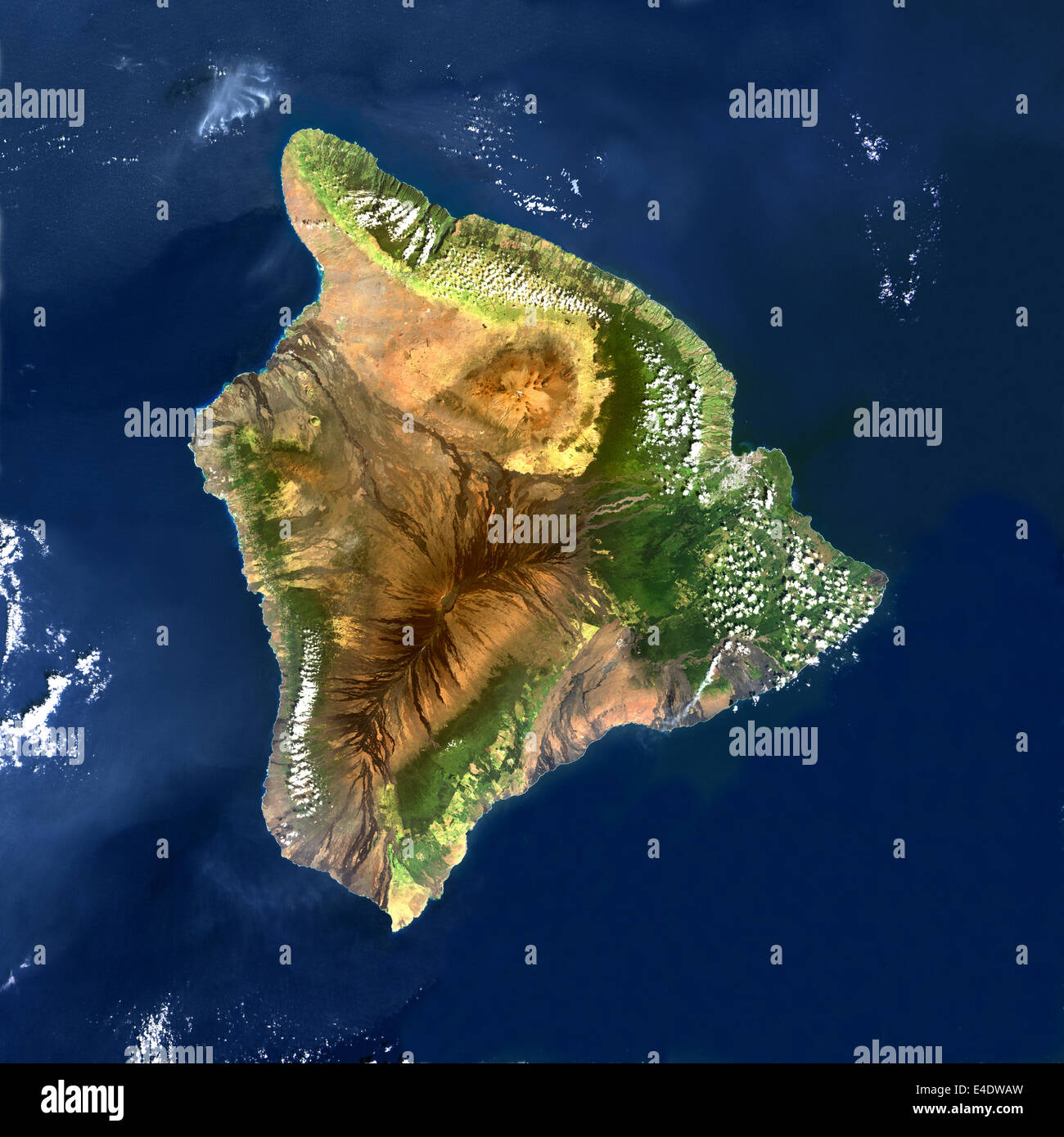 Mauna Loa Volcano, Hawai, Usa, True Colour Satellite Image ...