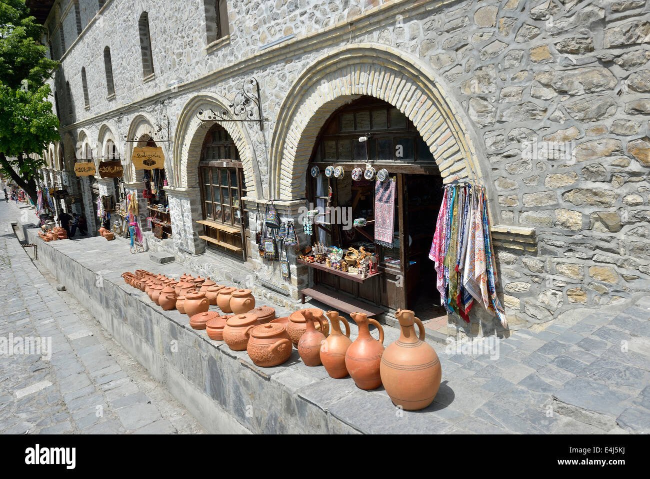 Cool  Shops Outside The 18th Century Caravanserai Sheki Azerbaijan