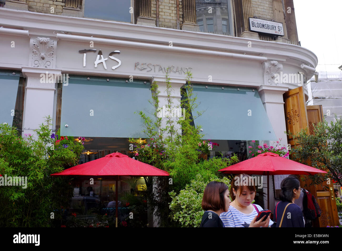 Tas restaurant on bloomsbury street london stock photo for 14th avenue salon albany oregon
