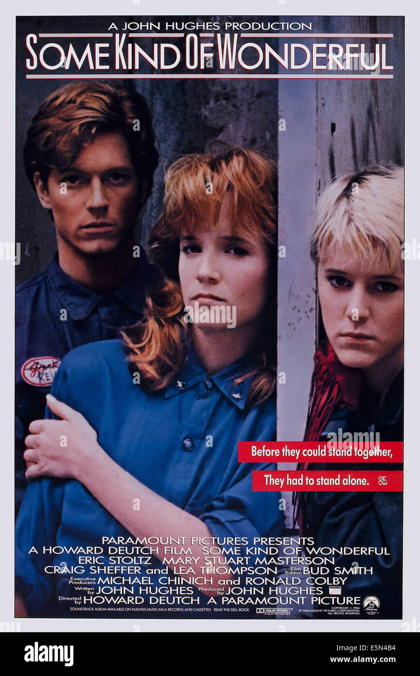 SOME KIND OF WONDERFUL, US poster art, from left: Eric Stoltz, Lea Thompson, Mary Stuart Masterson, 1987. ©Paramount Stock Photo