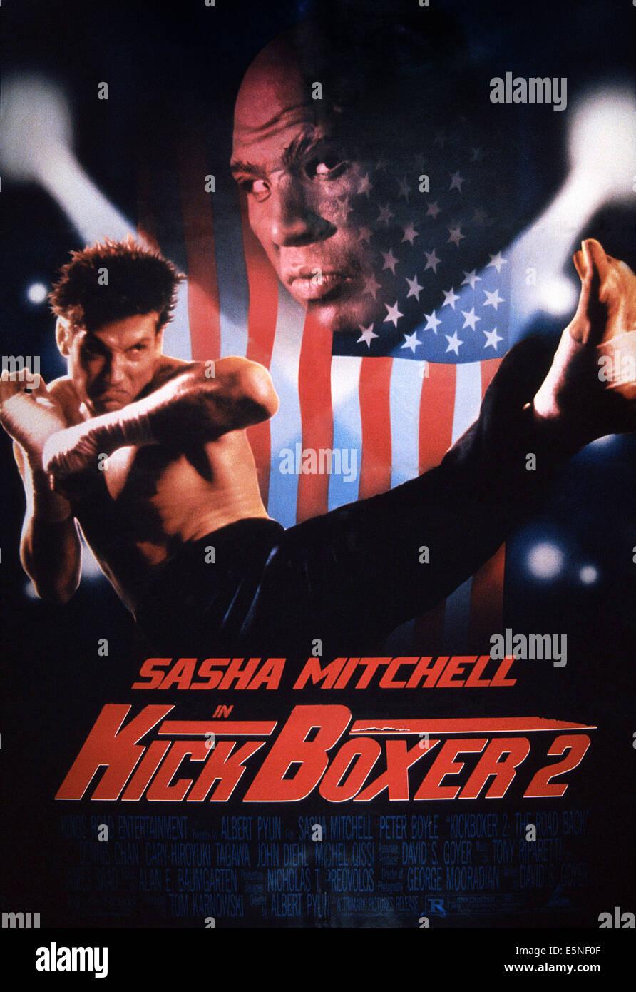 kickboxer 2 the road back poster sasha mitchell 1991