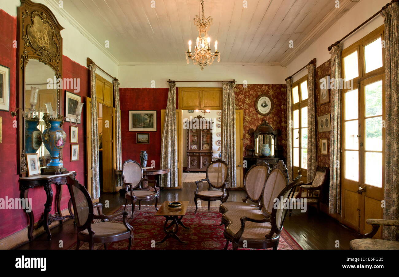 A Sitting Room Inside Eureka House A Colonial Style
