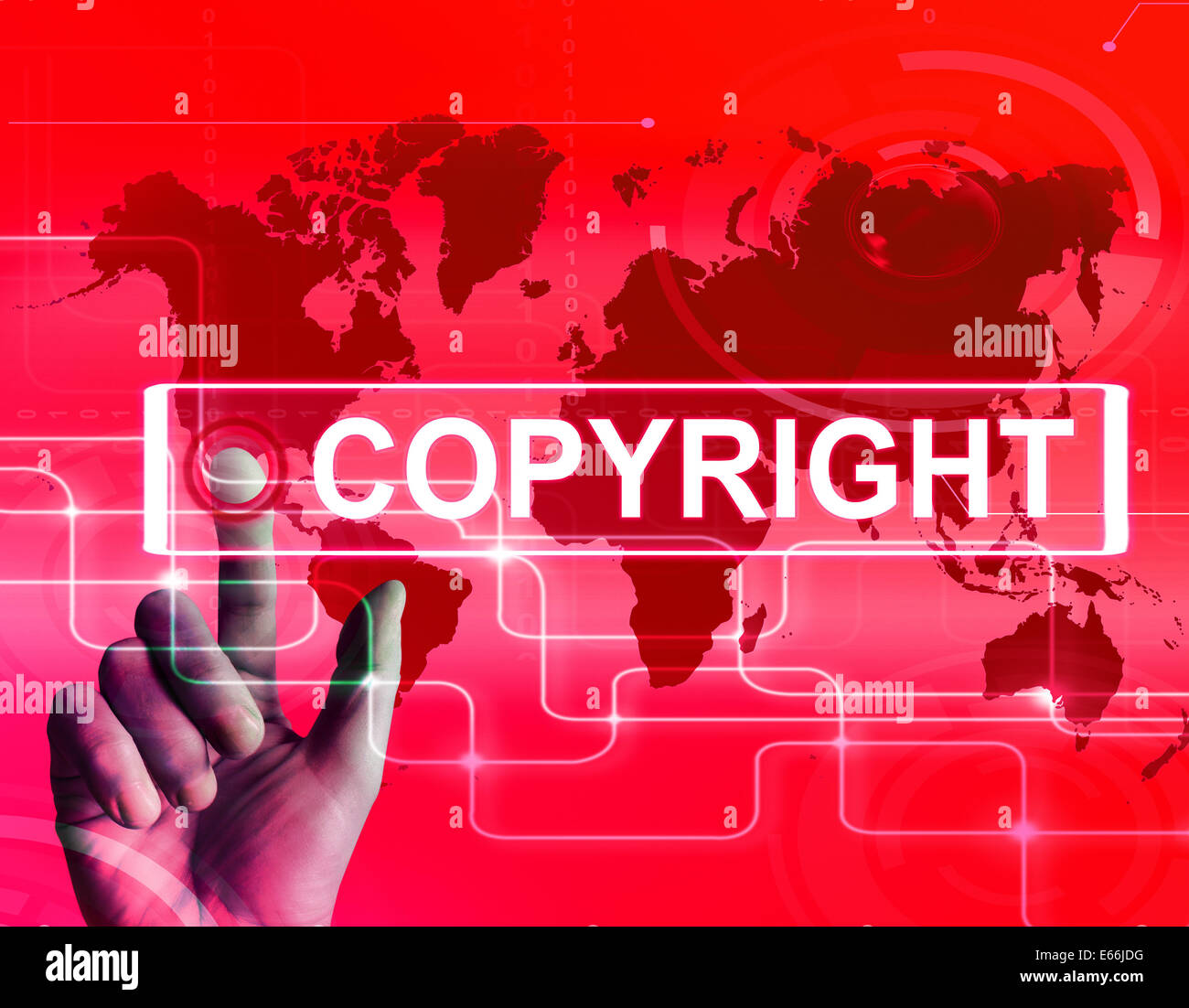 Global Intellectual Property: Copyright Map Displaying International Patented