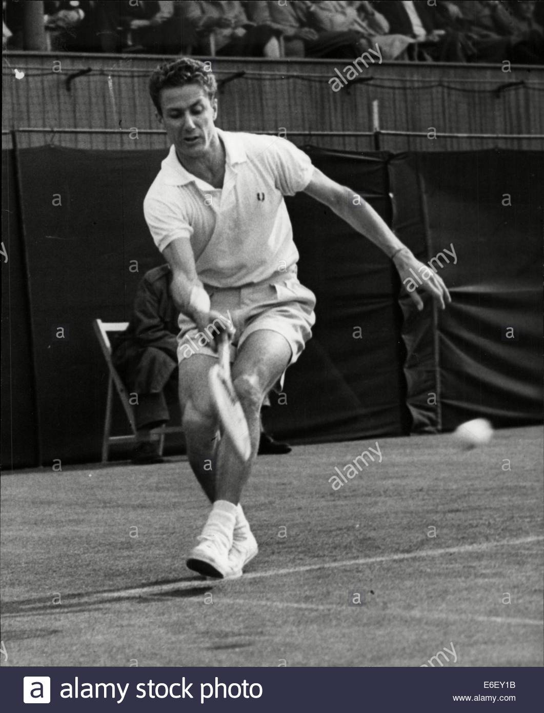 Philippe Washer In Play At The Davis Cup At Stock Photo