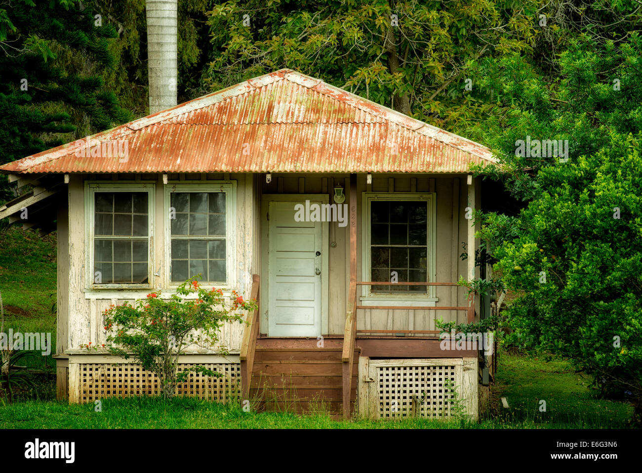 Old abandoned house in lanai city lanai hawaii stock for What is a lanai in a house