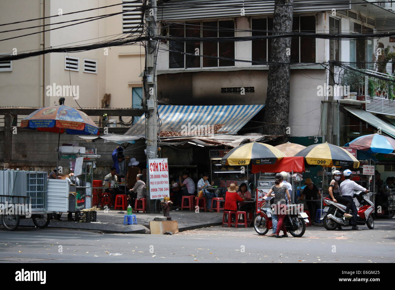 Stock Photo - street food shop in Ho Chi Minh city, Vietnam