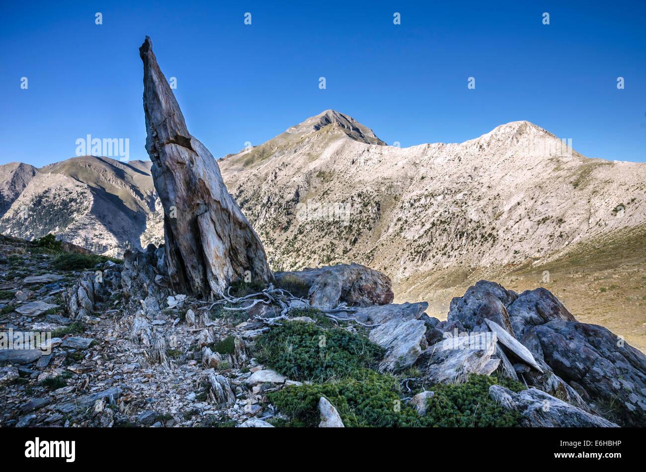 Profitis Ilias, the highest peak in the Taygetos range ...