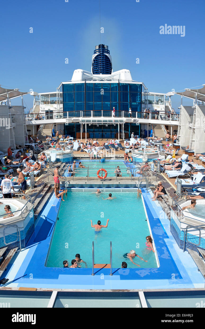People in cruise ship liner swimming pools and jacuzzi relaxing on stock photo royalty free for River cruise ships with swimming pool