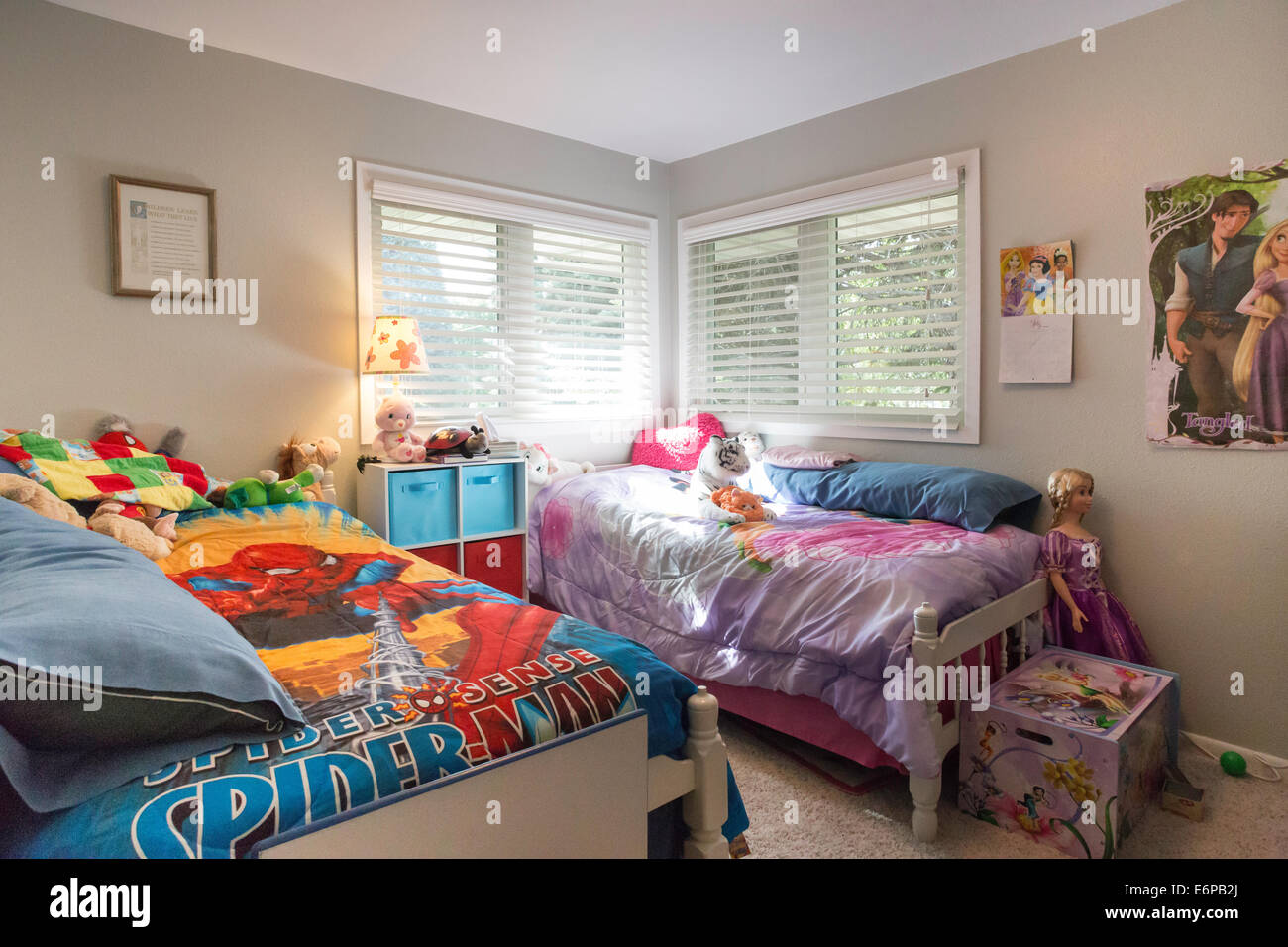 Brother And Sister Bedroom Usa Stock Photo Royalty Free Image 73021050 Alamy