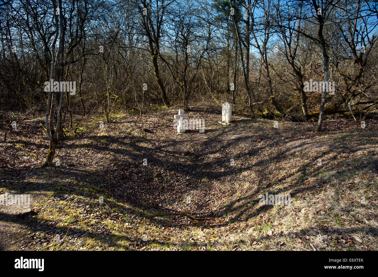 verdun ww1 battlefield site verdun sur meuse steles des basques stock photo royalty free image. Black Bedroom Furniture Sets. Home Design Ideas
