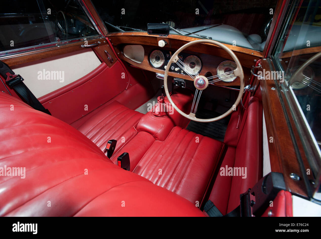 morgan plus 4 classic british sports car interior stock photo royalty free image 73285244 alamy. Black Bedroom Furniture Sets. Home Design Ideas