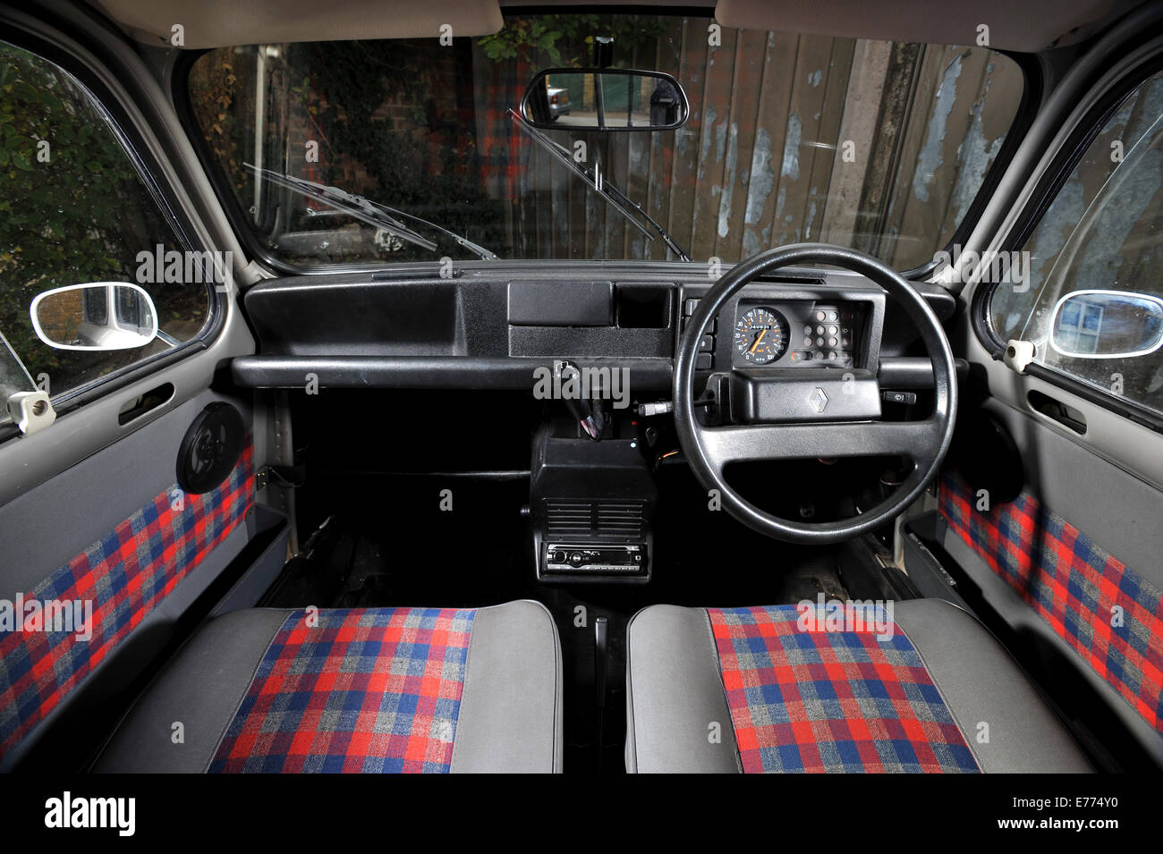 renault 4 classic french small car interior stock photo royalty free image 73301620 alamy. Black Bedroom Furniture Sets. Home Design Ideas