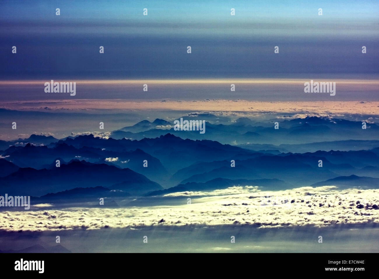 Tranquil view of Alps, Austria Stock Photo