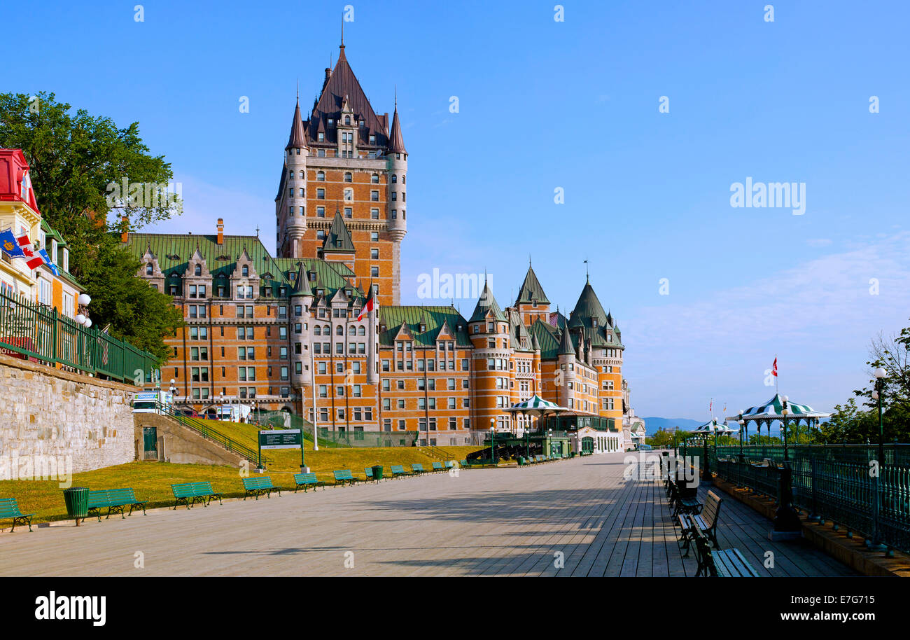 Chateau frontenac and dufferin terrace quebec city for Terrace 45 qc
