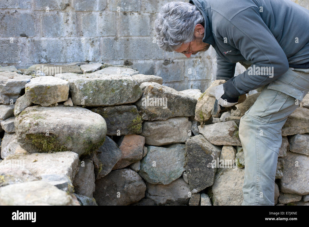 Preparatory work for building an earth oven building the for How to build a stone house yourself