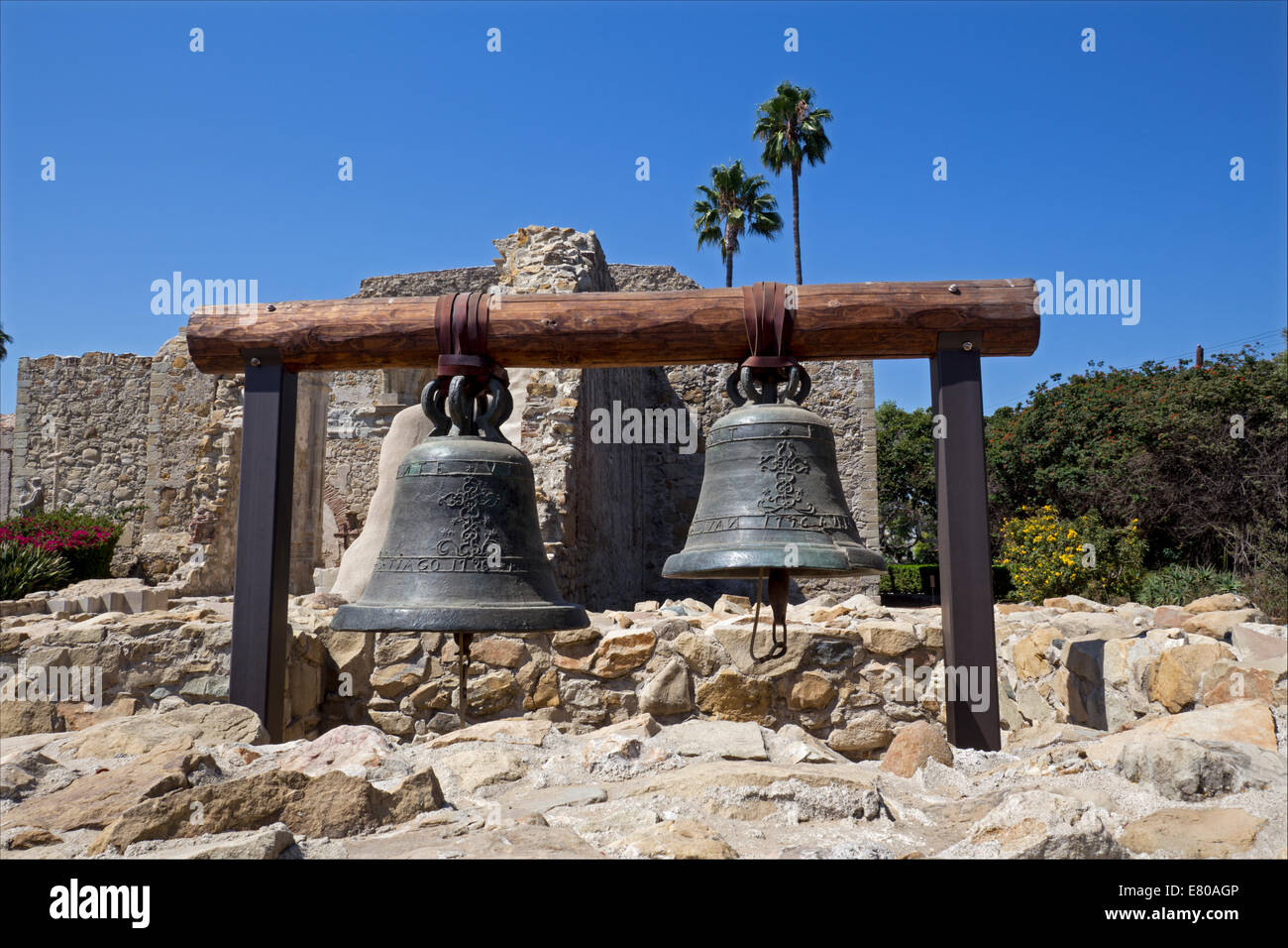 original bell tower mission san juan capistrano san juan. Black Bedroom Furniture Sets. Home Design Ideas