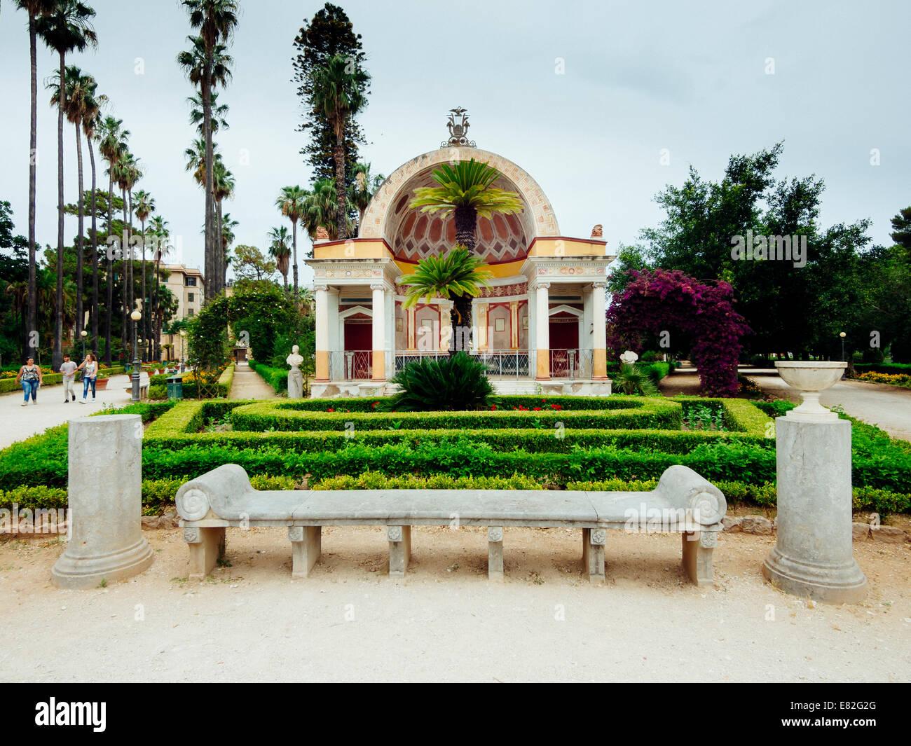 Italy Sicily Palermo Park Villa Giulia Botanical