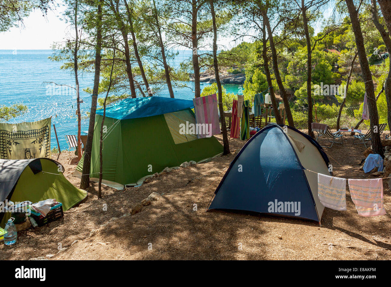 Tents Atop The Cliff In Campsite Lili Jagodna Village