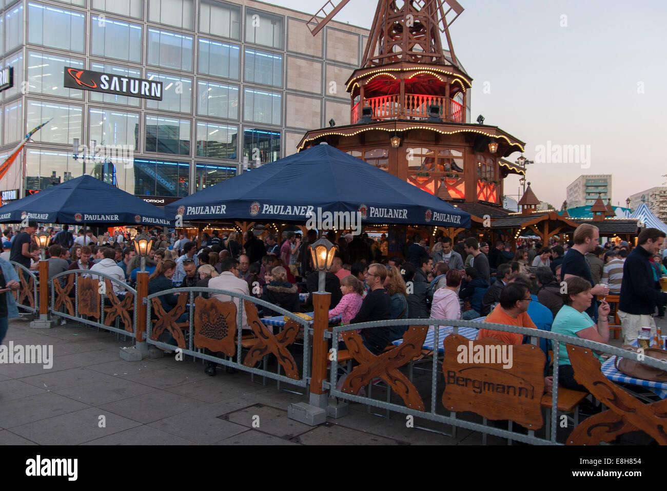 Beer Garden Oktoberfest Alexanderplatz Berlin Germany