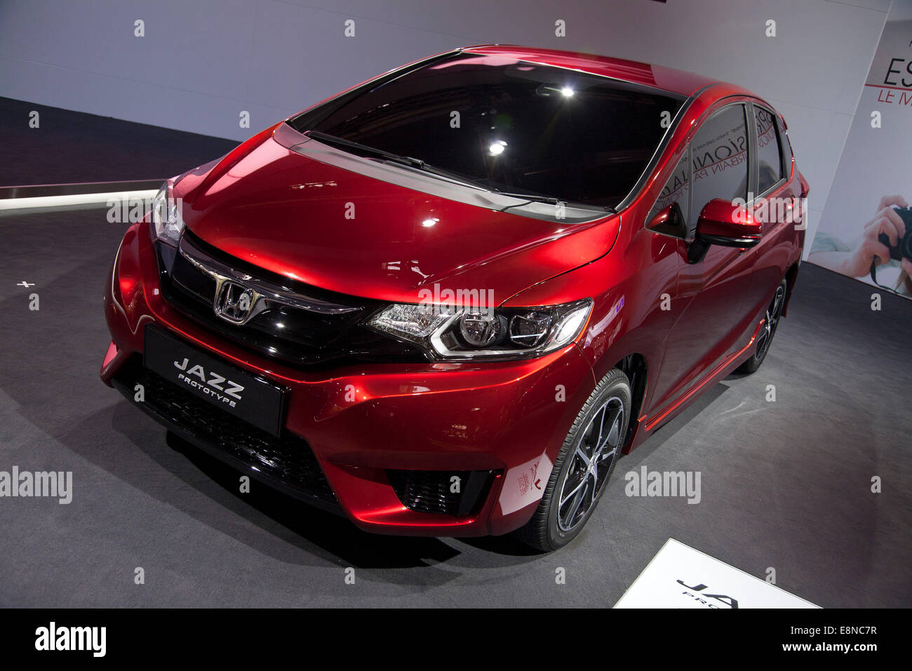 honda jazz prototype paris motor show mondial de l 39 automobile 2014 stock photo royalty free. Black Bedroom Furniture Sets. Home Design Ideas