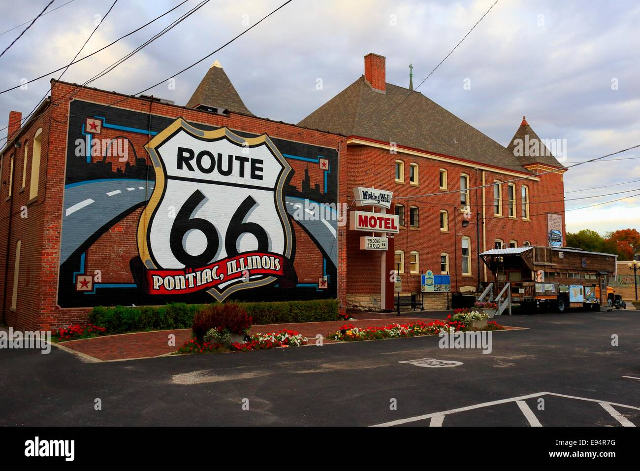 Route 66 mural route 66 museum pontiac illinois stock for Route 66 mural