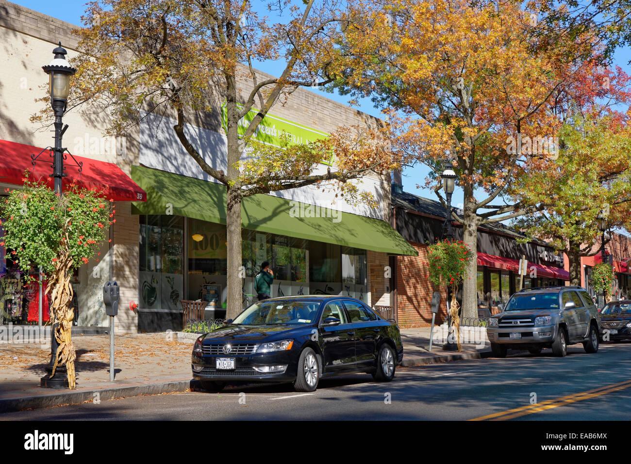 Downtown Tarrytown, New York, USA Stock Photo