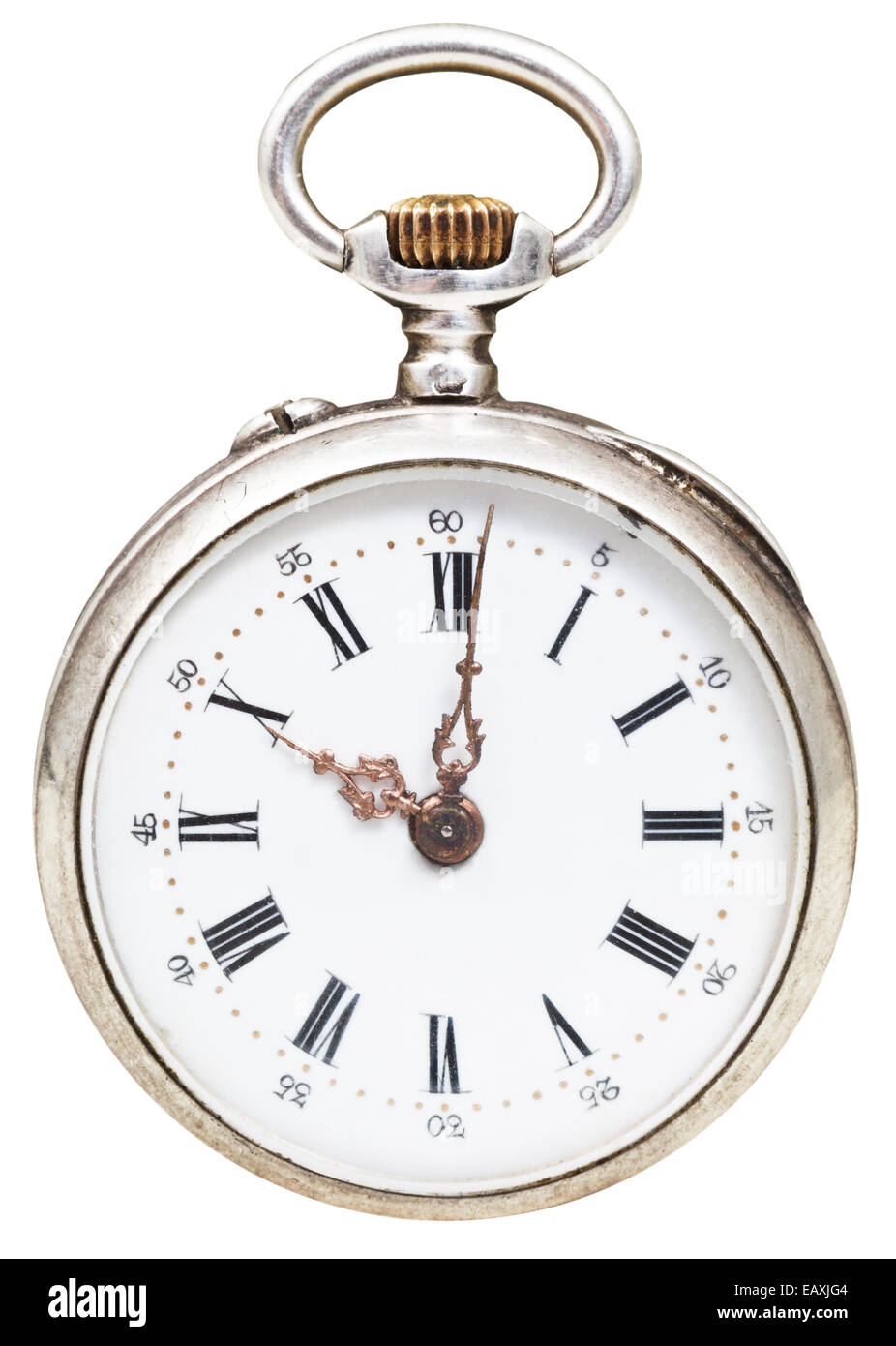 Ten O 39 Clock On The Dial Of Retro Pocket Watch Isolated On
