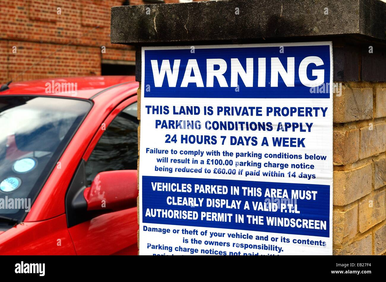 Unauthorised Parking On Private Property Signs