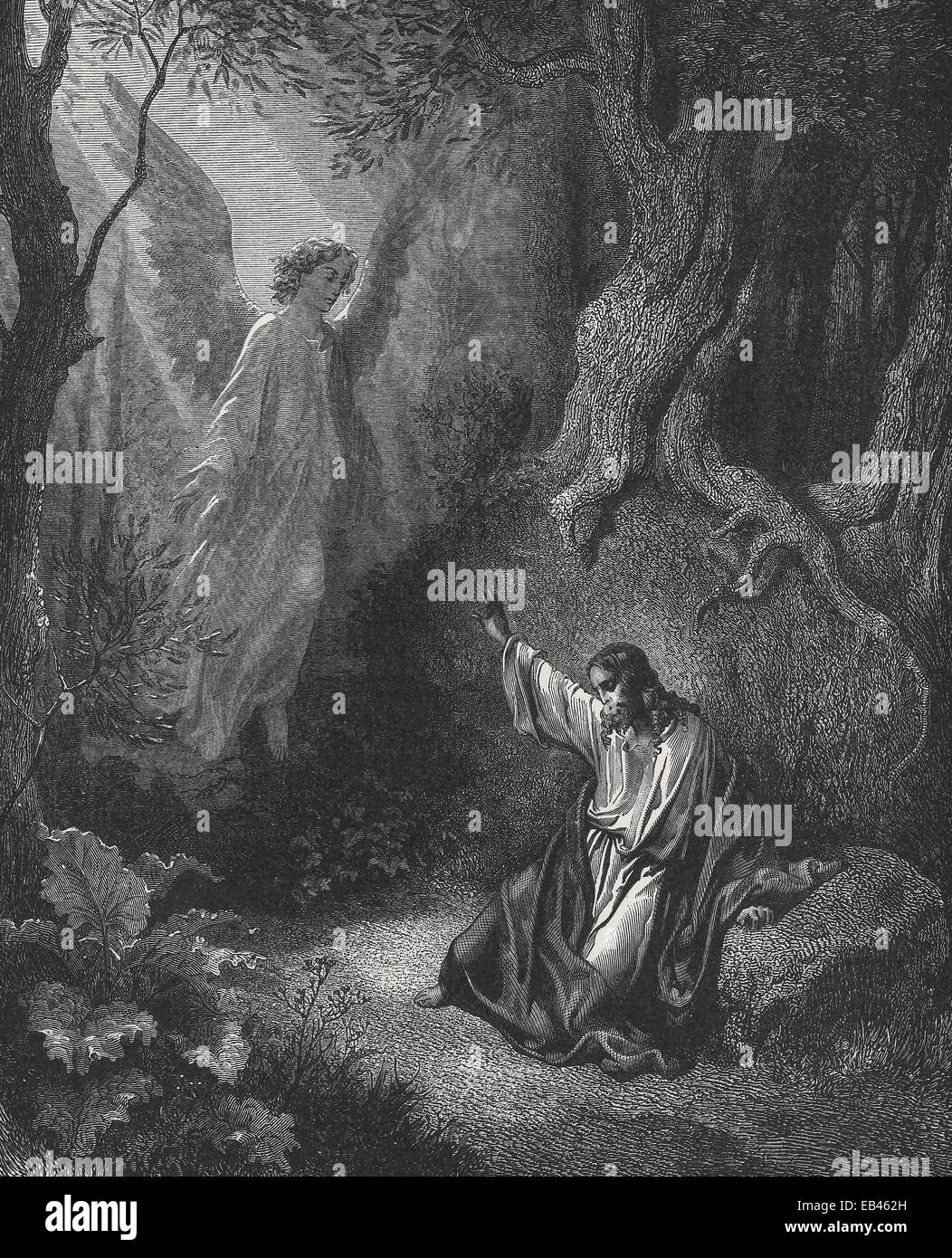 Jesus Agony In The Garden Of Gethsemane Stock Photo Royalty Free Image 75695273 Alamy