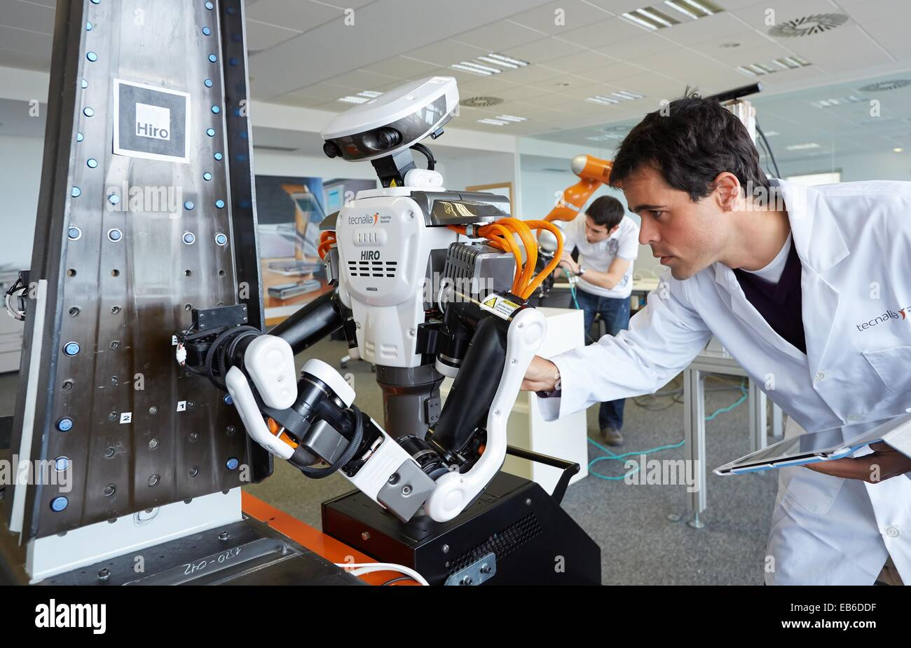 HIRO robot Humanoid robot for automotive assembly tasks in ...  |Humanoid Robot Assembly