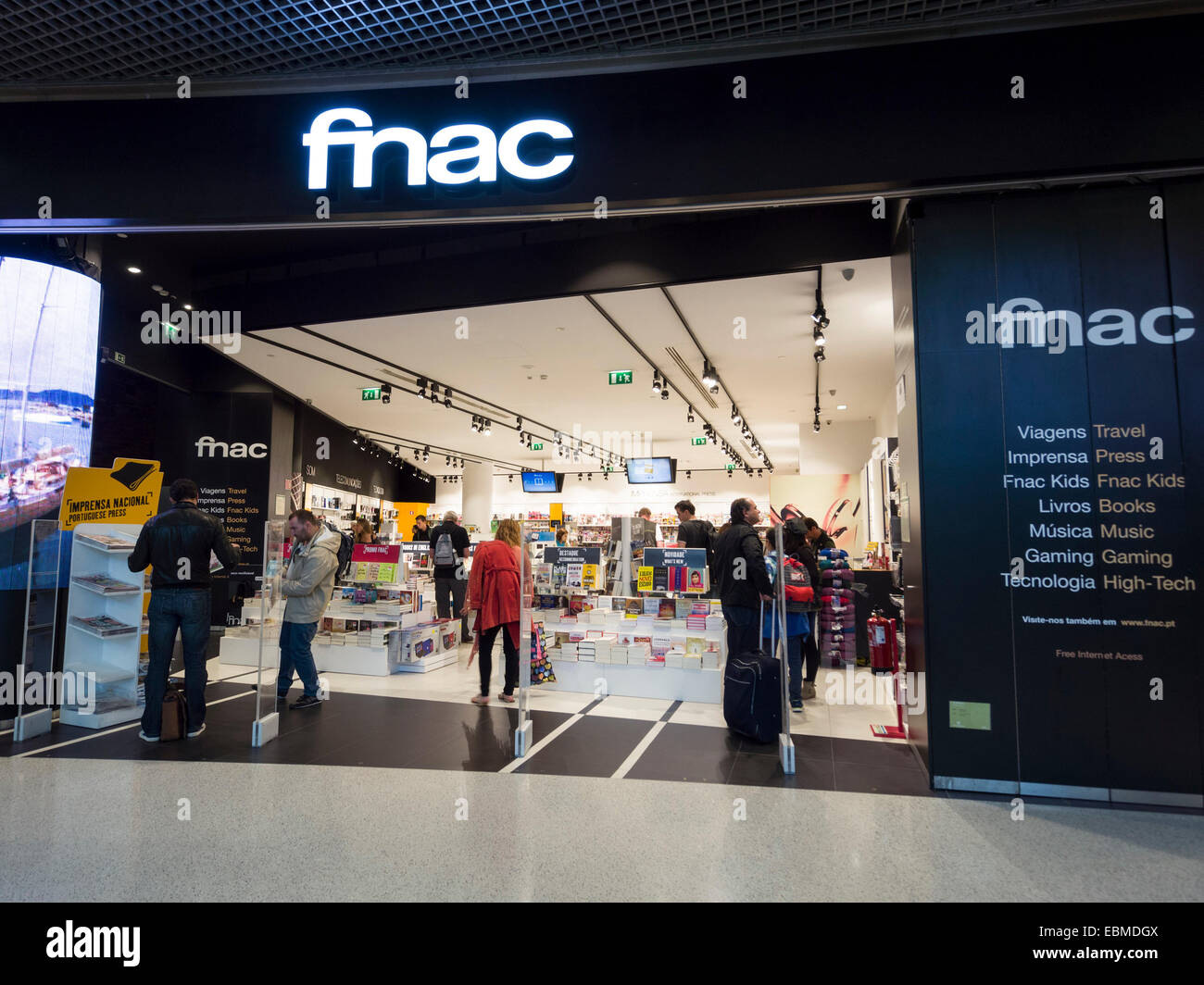 FNAC store in Portela Airport, Lisbon, Portugal Europe ...