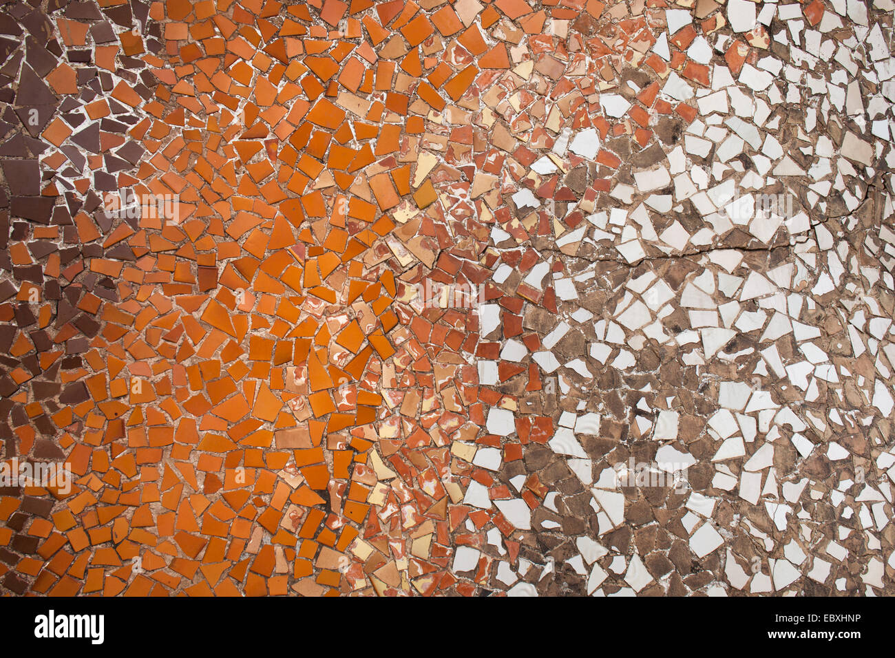 Trencadis Mosaic Background Or Texture From Broken Pieces