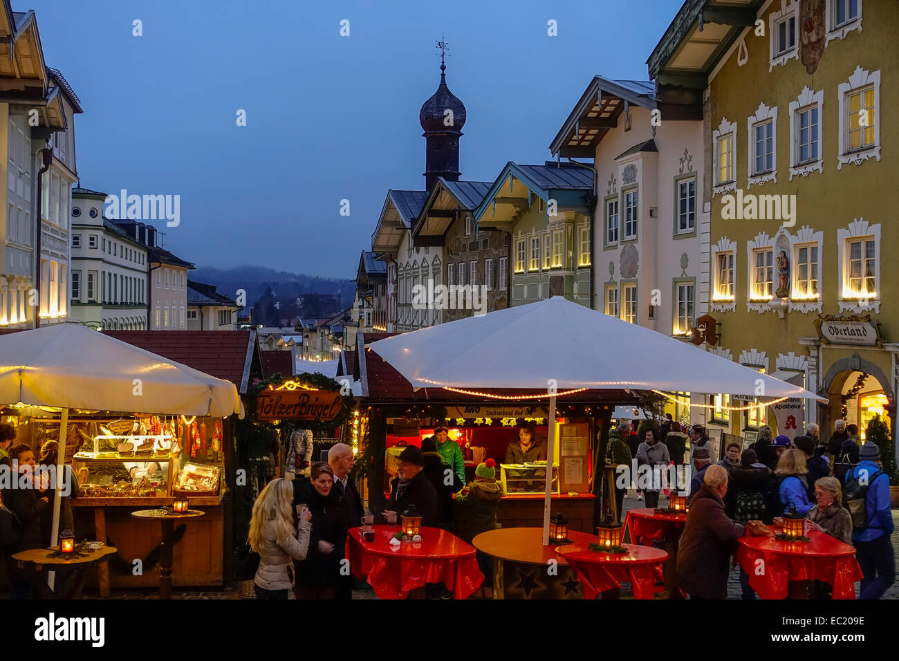 christmas market in bad tolz bavaria germany stock photo royalty free image 76261514 alamy. Black Bedroom Furniture Sets. Home Design Ideas