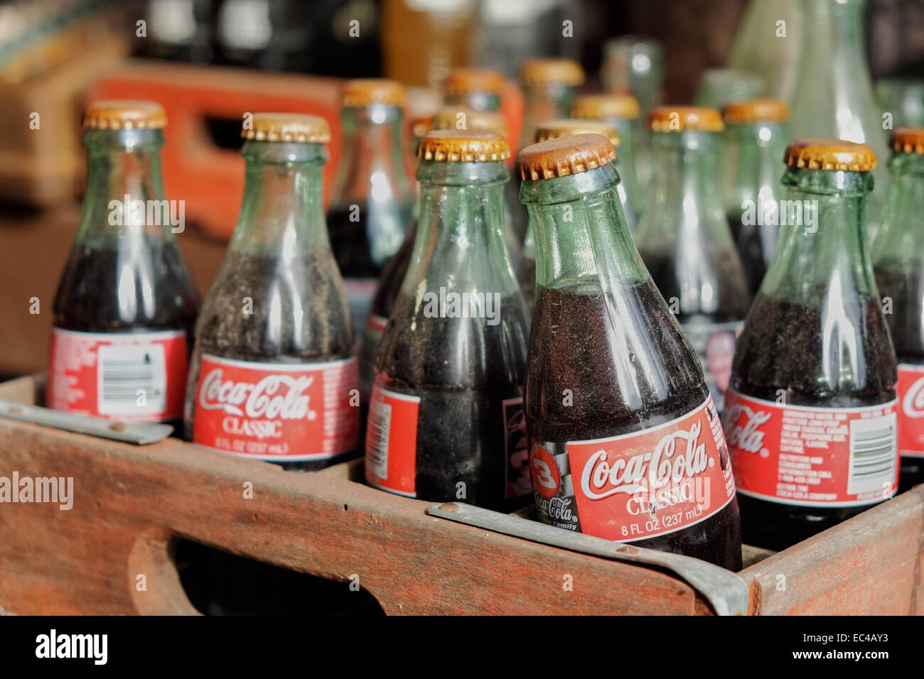 old-coca-cola-classic-bottles-on-display