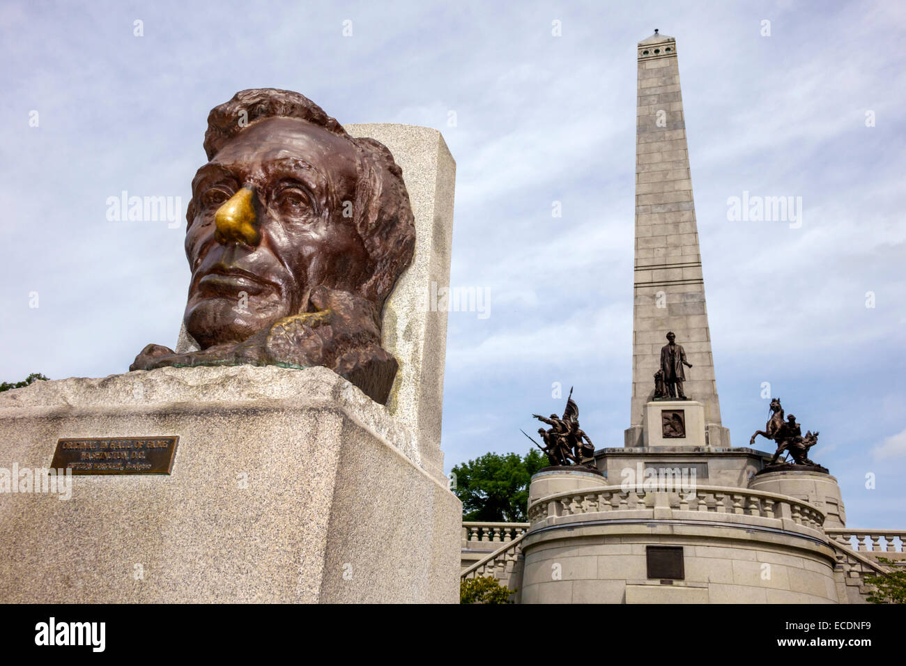 Landmark Springfield Il >> Springfield Illinois Oak Ridge Cemetery Abraham Lincoln Tomb and War Stock Photo, Royalty Free ...