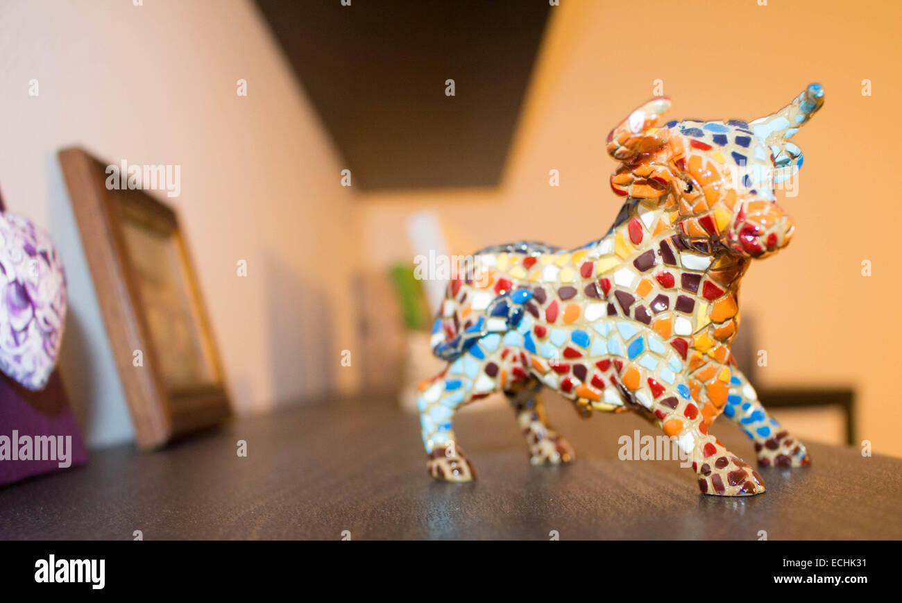 taurus bull souvenir barcelona colours colors sky. Black Bedroom Furniture Sets. Home Design Ideas