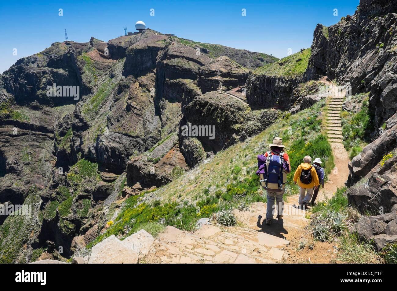 A >> Portugal, Madeira island, hike between Pico Ruivo and Pico Arieiro Stock Photo, Royalty Free ...