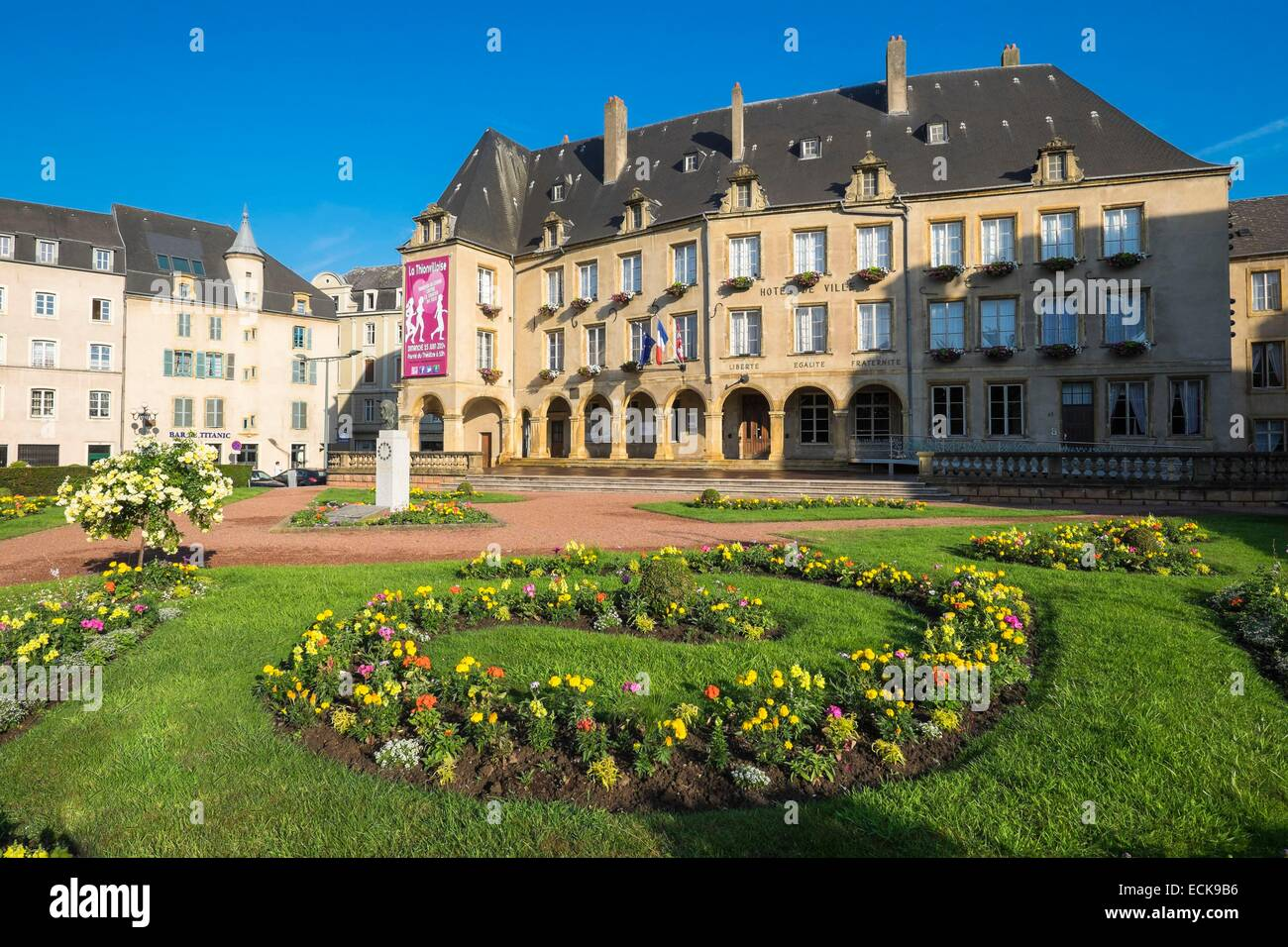 france moselle thionville the old city town hall built between stock photo royalty free. Black Bedroom Furniture Sets. Home Design Ideas