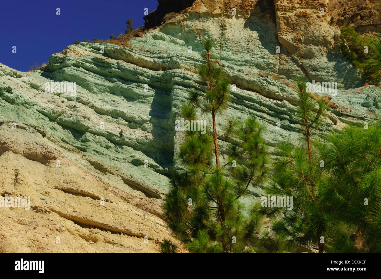 Gran canaria fuente de los azulejos coloured rocks - Los azulejos gran canaria ...