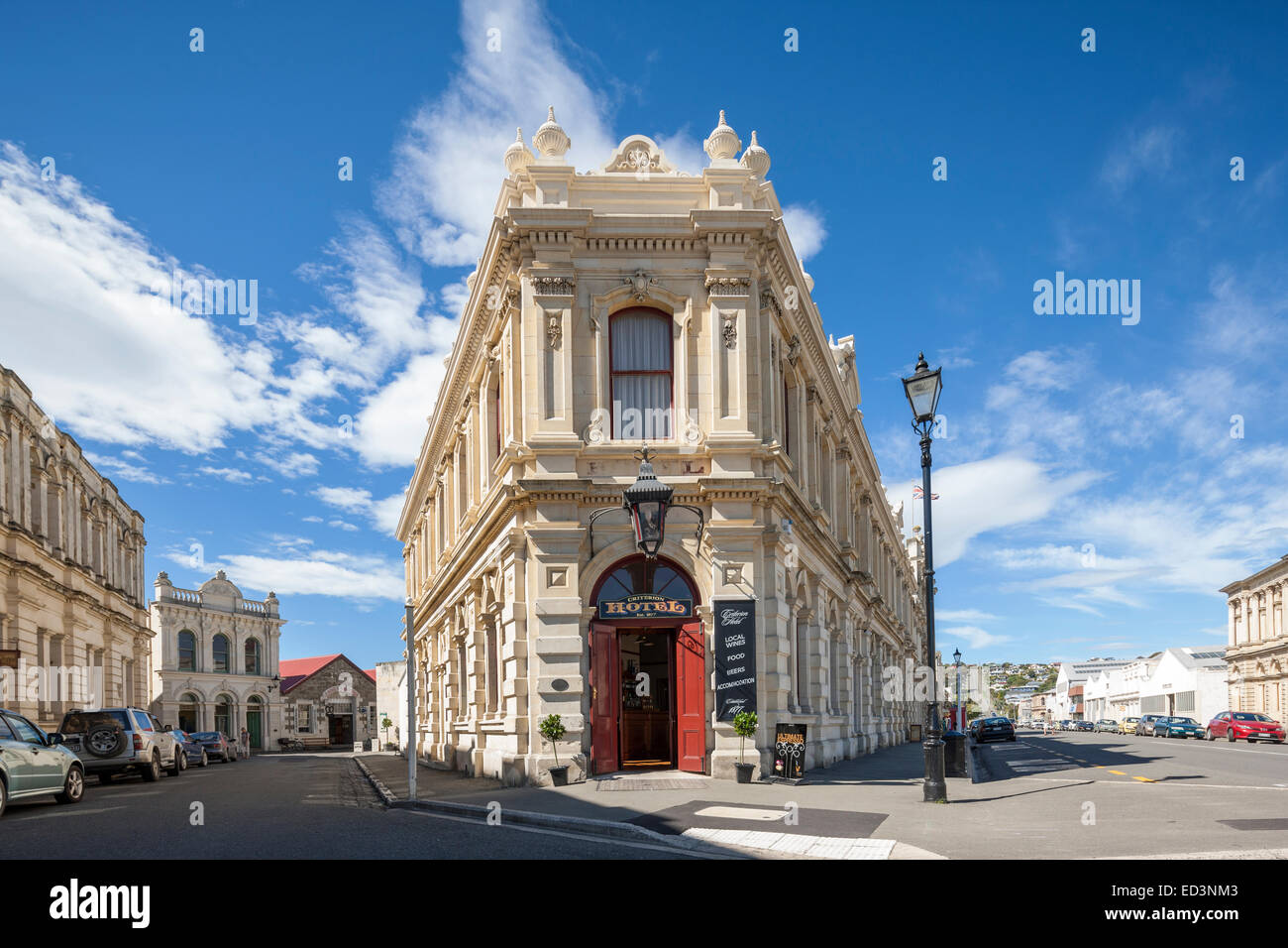 New Zealand Oamaru The Criterion Hotel And Other Old