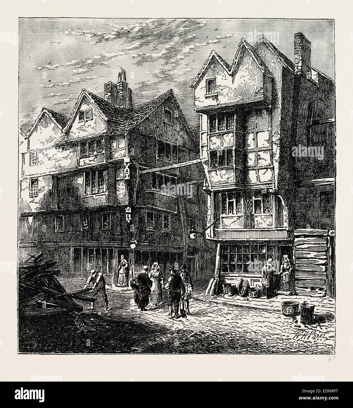 Old Houses Formerly Standing In Butcher 39 S Row 1800