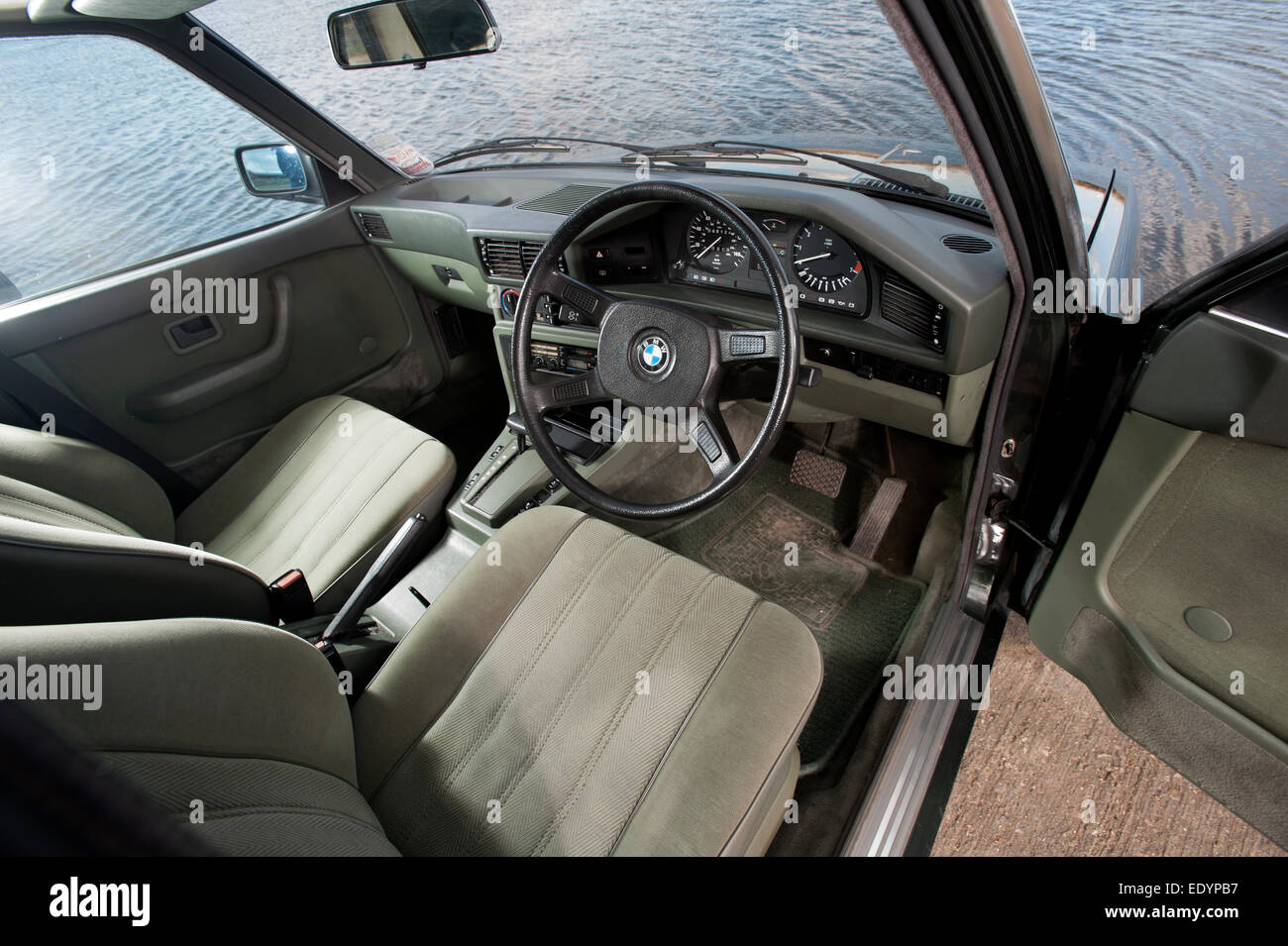 1984 e28 bmw 525i 5 series car interior stock photo 77442267 alamy. Black Bedroom Furniture Sets. Home Design Ideas