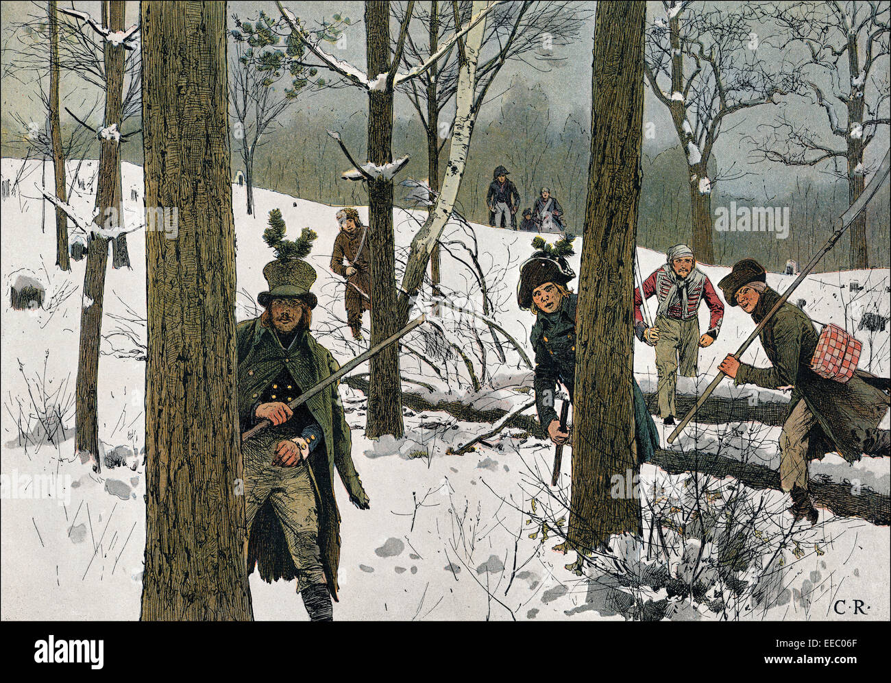 Prussian Soldiers Fleeing The French Captivity, 1807, Napoleonic Stock Photo, Royalty ...