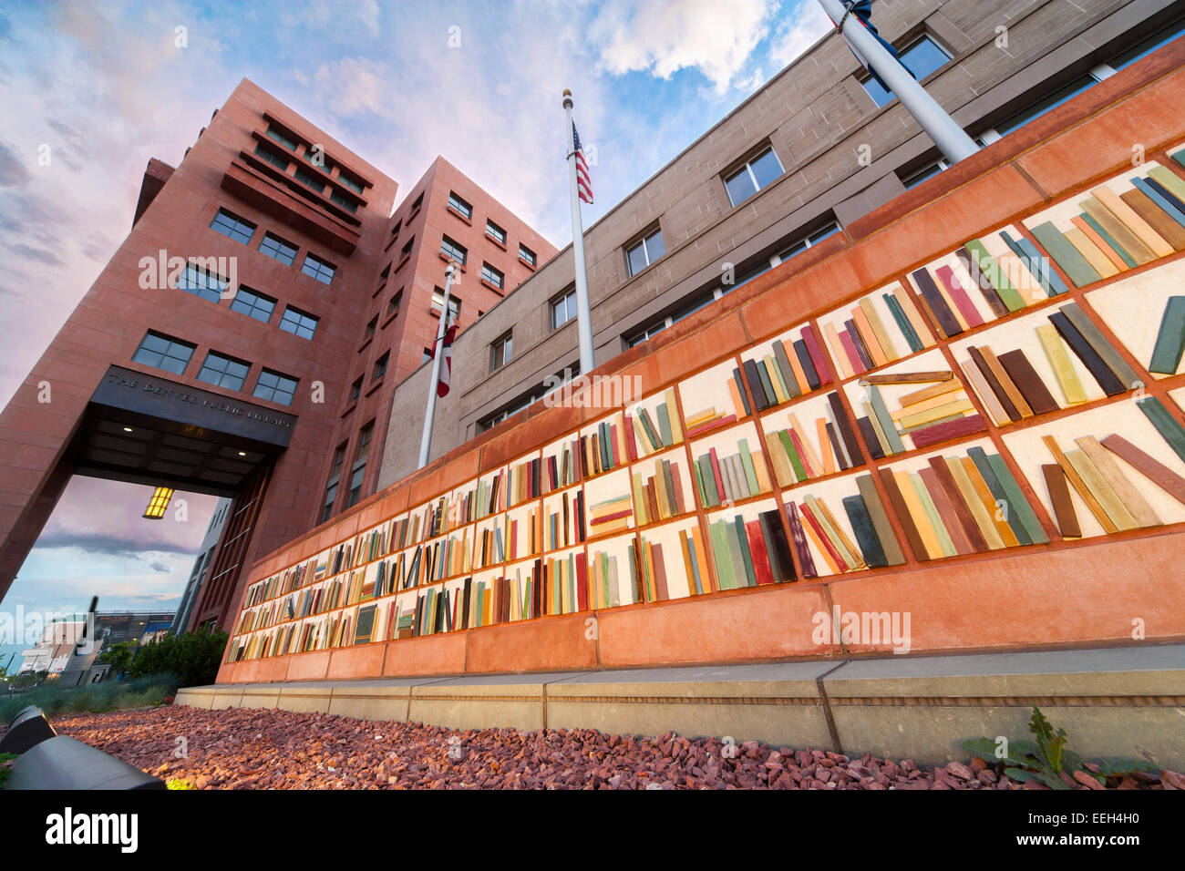 denver-public-library-exterior-with-ceramic-book-art-sculpture-EEH4H0.jpg