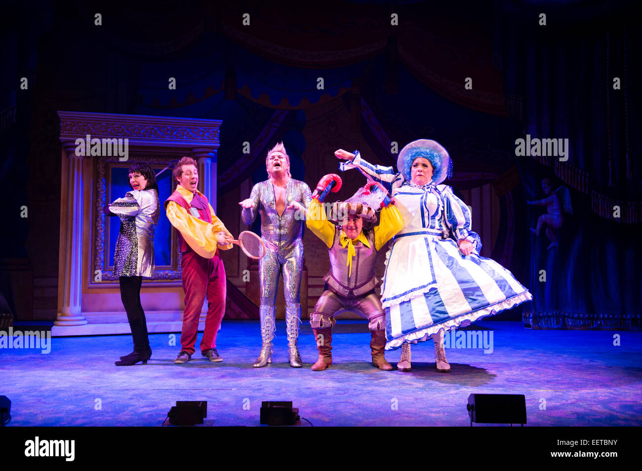 Amateur actors performing in their elaborate costumes on ...